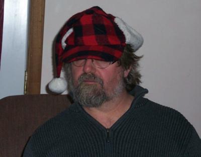 Santa Scott in his snazzy hat